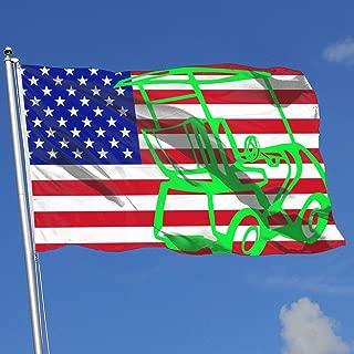 JQDAPaflag Golf Cart Clip Art Breeze Flag 3 X 5-100% Polyester Single Layer Translucent Flags 90 X 150CM - Banner 3' X 5' Ft