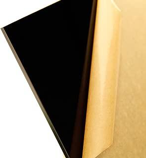 Cast Acrylic Sheet, Translucent Black, 24