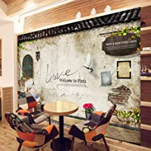 Custom Photo Wallpaper Murals Classic Old Street Wall Photo Paris Kitchen Cafe Restaurant Backdrop Wall Paper Silk Cloth Send Glue 300x200cm
