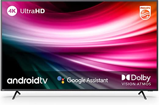Philips 126 cm (50 inches) 4K Ultra HD LED Android Smart TV 50PUT8215/94 (Black) (2021 Model) | With Voice Assistant 1