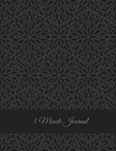 5 Minute Journal: Black Classic Mandala, Daily Mindfulness Planner for Manage Anxiety, Worry and Stress Large Print 8.5 X ...