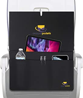 Airplane Pockets, Sanitary Tray + Table Cover with Pockets for Planes, Patented Design with Multiple Compartments, Travel ...