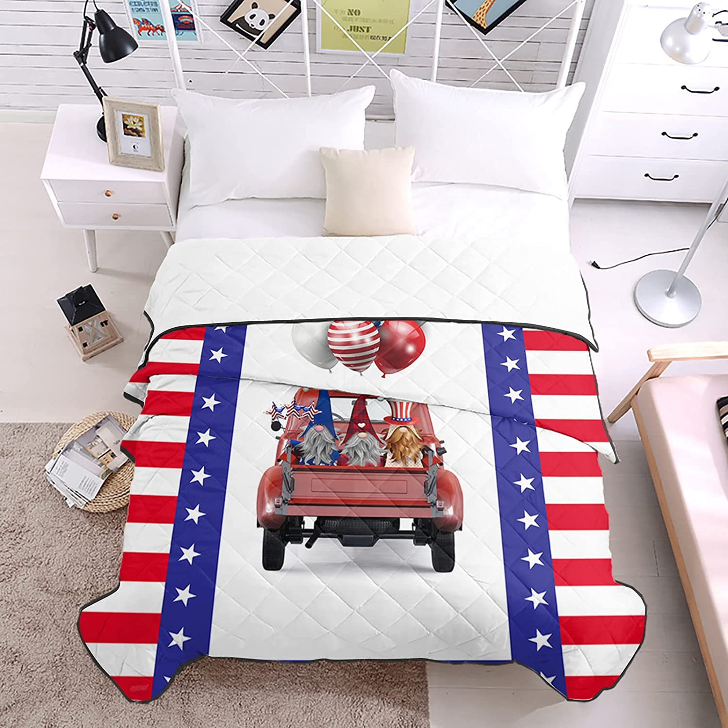 DecorLovee Bedding Duvets Now on sale Fourth of Super intense SALE All July Red-White Stripes