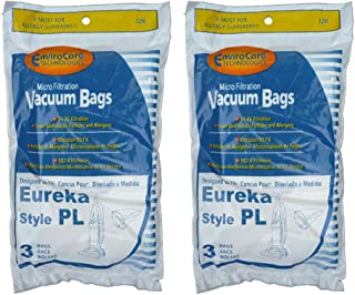 EnviroCare Replacement Vacuum Bags for Eureka Style PL Upright Vacuums 6 Bags
