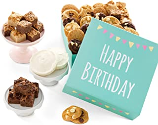 Mrs. Fields Cookies Birthday Gift- Includes: Nibblers Bite-Sized Cookies, Frosted Cookies & Brownie-Bites Gift Box