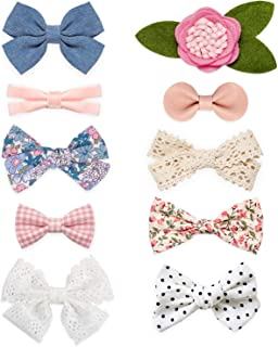 Baby Girl Hair Clips, Bows Barrettes Fully Lined Alligator Clip Hair Accessories for Little Girls Toddler Kids Children