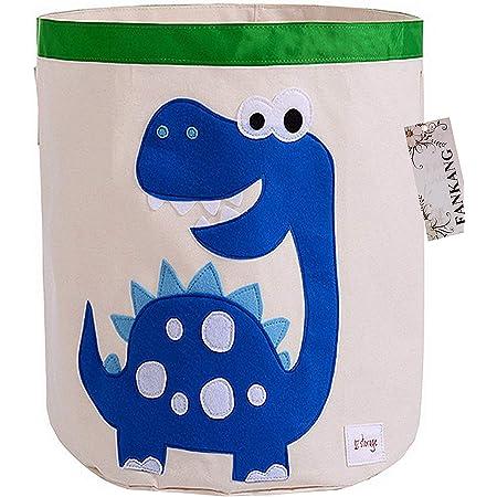 FANKANG Storage Baskets,Collapsible Convenient Nursery Hamper/Laundry Bin/Toy Collection Organizer for Kid's Room(Animal-Dinosaur)
