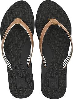 KuaiLu Tong Femme été UltraLéger Cuir Sandales Yoga Mat Tongs de Plage et Claquettes de Piscine Mode Antidérapante Chaussures