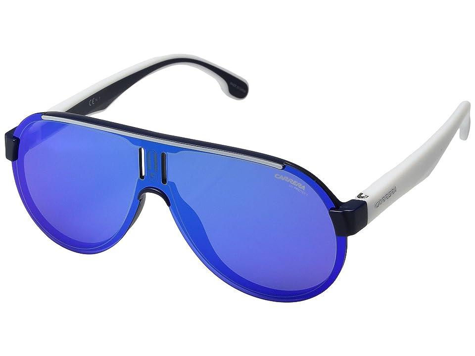 Carrera Carrera 1008/S (Matte Blue/Blue Lens) Sport Sunglasses
