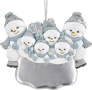 doublesmt Personalized Christmas Ornament for 2020 Christmas Hanging Ornaments Snowman Ornament (White D)
