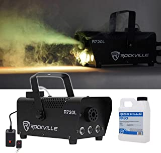 Rockville Fog/Smoke Machine w/Remote+Fluid+Multi Color LED Built In (R720L)