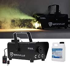 Rockville Fog/Smoke Machine w/Remote+Fluid+Multi Color LED Built In (R720L)