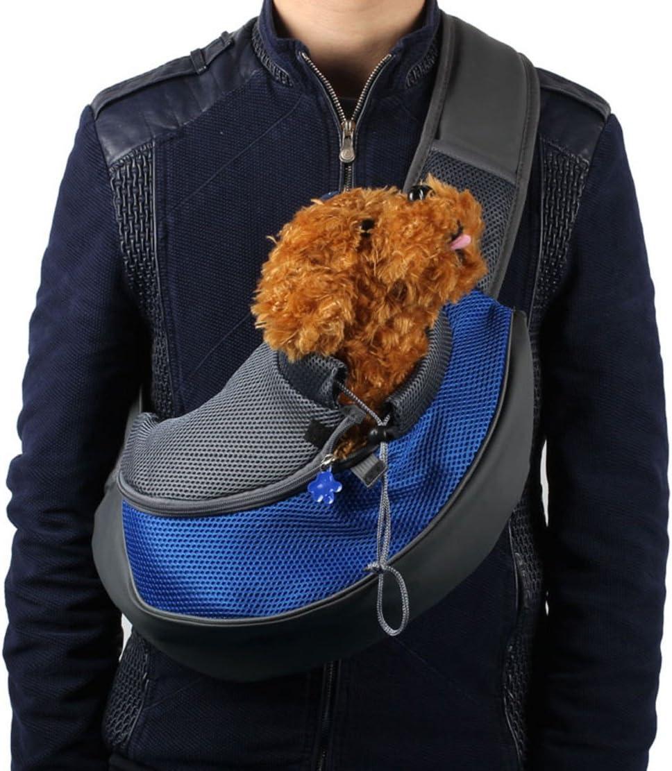 Amazon.com : Enjoying Pet Dog Cat Puppy Carrier Mesh Travel Tote Shoulder Bag  Sling Backpack (Blue, S) : Pet Supplies