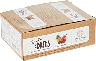Expo 2020 Dubai Pineapple and Mango Dates Bar pack of 24 X 30G 100% Natural