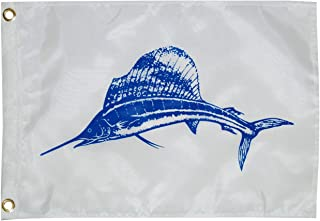 Taylor Made Products, Fisherman's Catch Flag, Fish Pennant, Nylon, 12 inch x 18 inch