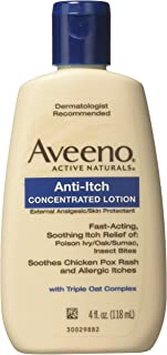 Aveeno Anti-Itch Concentrated Lotion, 4-Ounce Bottles (Pack of 6)