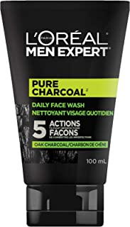 L'Oreal Paris Men Expert Pure Charcoal, Face Wash for Men, Daily Cleanser with Black Charcoal + Salicylic Acid to Reduce O...