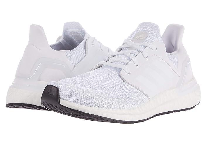 adidas Kids  UltraBOOST 20 (Big Kid) (White/Grey/Black) Kids Shoes
