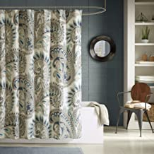 Ink+Ivy Mira 200TC Shower Curtain 72x72 Blue, 72 x 72,