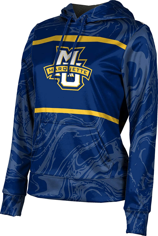 ProSphere Marquette University Girls' Pullover Hoodie, School Spirit Sweatshirt (Ripple)