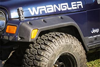 Rugged Ridge 11630.20 4.75 All-Terrain Fender Flare Kit for 1997-2006 Jeep Wrangler - 4 Pieces