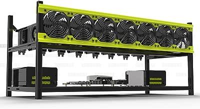 Veddha V3D 8-GPU Mining Case Aluminum Stackable Mining Rig Open Air Frame Case with Fan Mount - Ethereum(ETH,ETC)/ZCash(ZEC)/Monero(XMR)/Bitcoin(BTC)/Siacoin(SC)