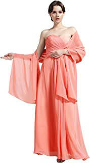 Sheer Soft Chiffon Bridal Women's Shawl For Special Occasions