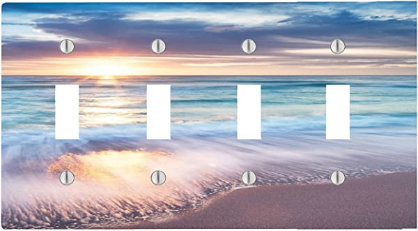 Trendy Accessories Beautiful Sunset At The Sea Pattern Design Print Image 4 Toggle Electrical Switch Wall Plate 8 38 X 4 69in