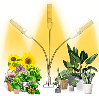 Grow Light, Ankace Full Spectrum Grow Lamp, Tri Head Gooseneck Plant Lights for Indoor Plants with Replaceable Bulb