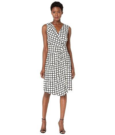 Kenneth Cole New York Gathered Belt Dress (City Grid) Women