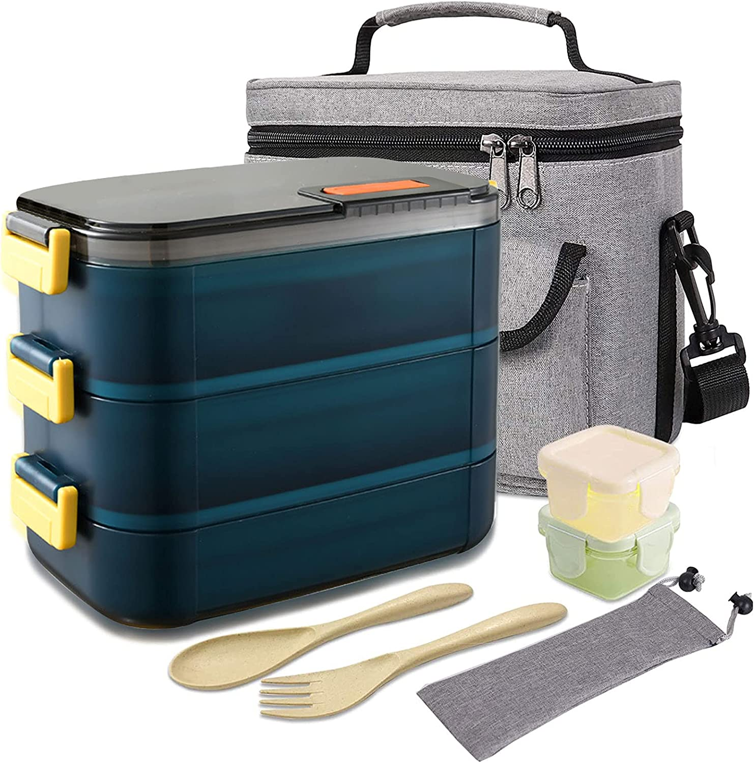 Seasonal Wrap Introduction HOMESPON with Lunch low-pricing Bag Stainless Contai Bento Steel Salad