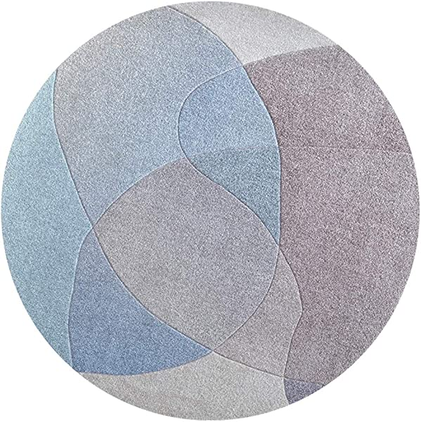 Bath Mat Kids Bath Rugs Bath Mat Rug Non Slip Round Carpet Bedroom Bedside Mat Coffee Table Living Room WEIYV Color Yunshan 02R Size 1 3m In Diameter