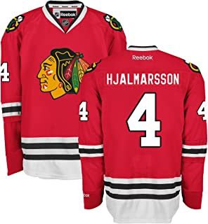 Reebok Niklas Hjalmarsson Chicago Blackhawks NHL Men's Red Premier Home Jersey