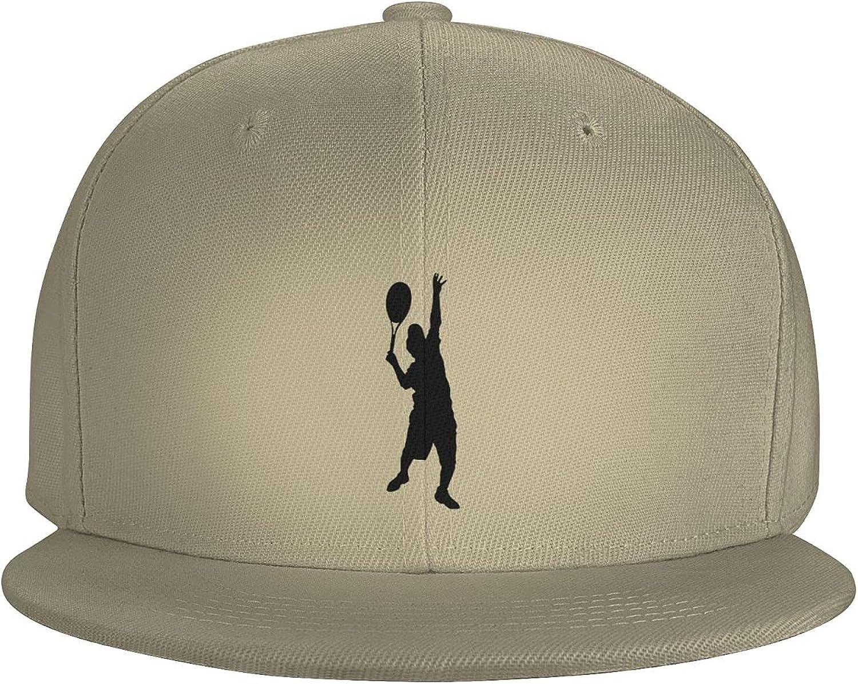 Tennis Players Moves Flat Brim Baseball Hat Cowboy Hat Sun Hat Unisex