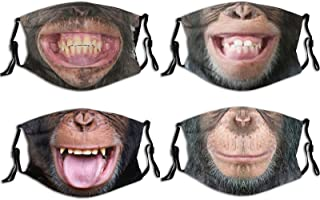 4pcs Face Mask With Filter Pocket Washable Breathable Reusable Dust-Proof And Windproof Mask For Men Women