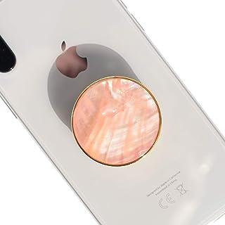 Lito.Dito シェル パール モバイル 拡張可能 折りたたみ可能 携帯電話グリップスタンドホルダー スマートフォン タブレット 携帯電話 アクセサリー (ピーチ)