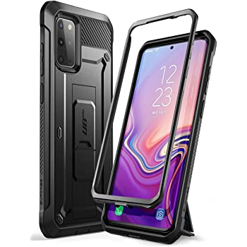 SUPCASE UB Pro Series Designed for Samsung Galaxy S20 Plus Case / S20 Plus 5G Case (2020 Release), Full-Body Dual Layer Rugged Holster & Kickstand Case Without Built-in Screen Protector (Black)