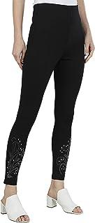 Iconic Women's 2091127 SS23FASHTREG Knitted Jeggings, Black