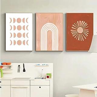Pintura de dibujos animados Sun Moon Baby Nursery Arte de la pared Boho Rainbow Posters Impresiones Imagen de la habitació...