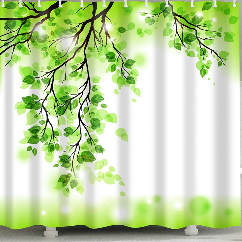Green-Twig Shower Max 55% OFF Curtain 1 Pc Bathroom 70% OFF Outlet for Home and