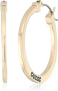 GUESS Basic Logo Hoop Earrings