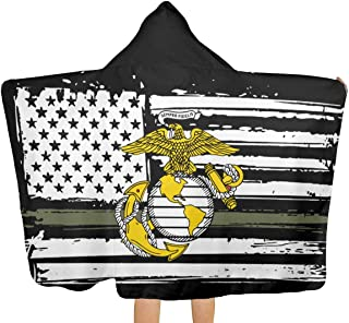 Yisili USMC Marine Corps Anchor Beach Sports Towels Sweat Quick Dry for Workout Gym Funny Novelty