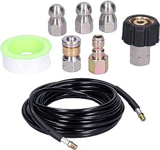 Afvoerreinigingsslang Riool, Jetterset voor Hogedrukreiniger Standaard Npt1/4 Draadsnelkoppeling voor Elektrische en Gasho...