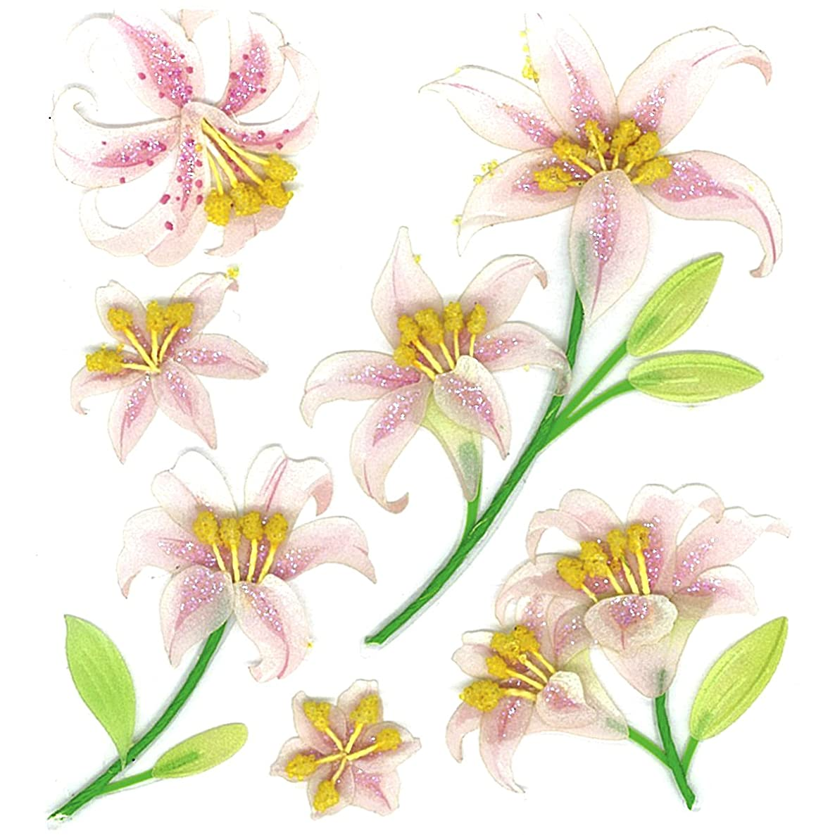 Jolee's Boutique Beautiful Lilies Dimensional Stickers
