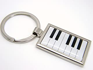 Chrome Plated Piano Keys Keyboard Keychain