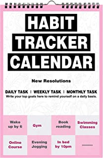 AccuPrints Habit Calendar (Any Year) for Wall for Motivational Planner Office Home Table New Year Hanging Kids All Year St...