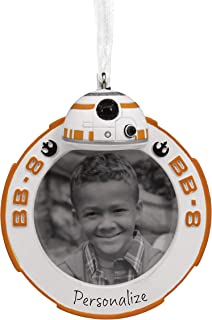 Hallmark Christmas Ornaments, Star Wars BB-8 Picture Frame Personalized Ornament