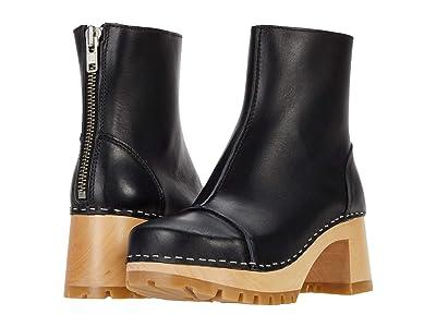 Swedish Hasbeens Stitchy Boot (Black) Women