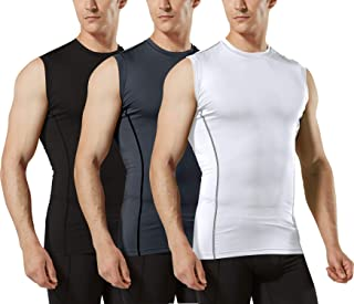 Tesla Mens Sleeveless Muscle Tank Dry Compression Baselayer