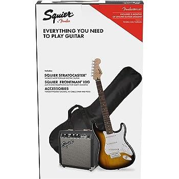 Fender Squier Stratocaster LRL Brown Sunburst + Frontman 10G + ...